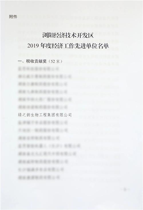 浏阳经开区(高新区)2020年经济工作会议召开,绿之韵揽获多项殊荣