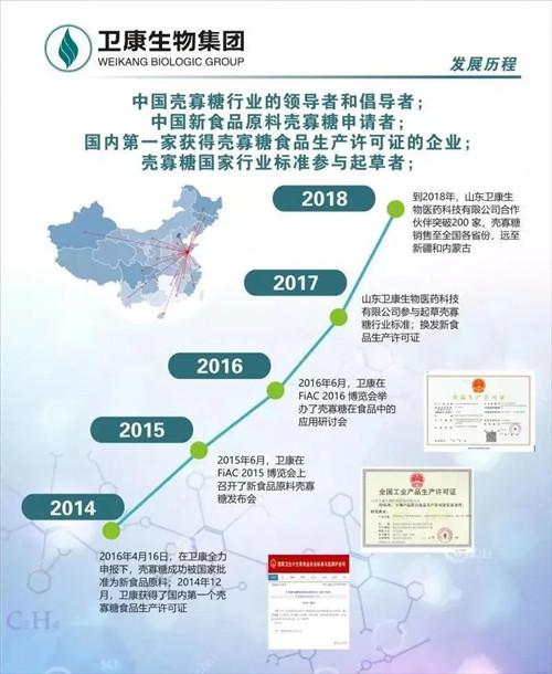 热烈祝贺卫康生物集团获批中国第一个壳聚糖酶食品添加剂生产许可证